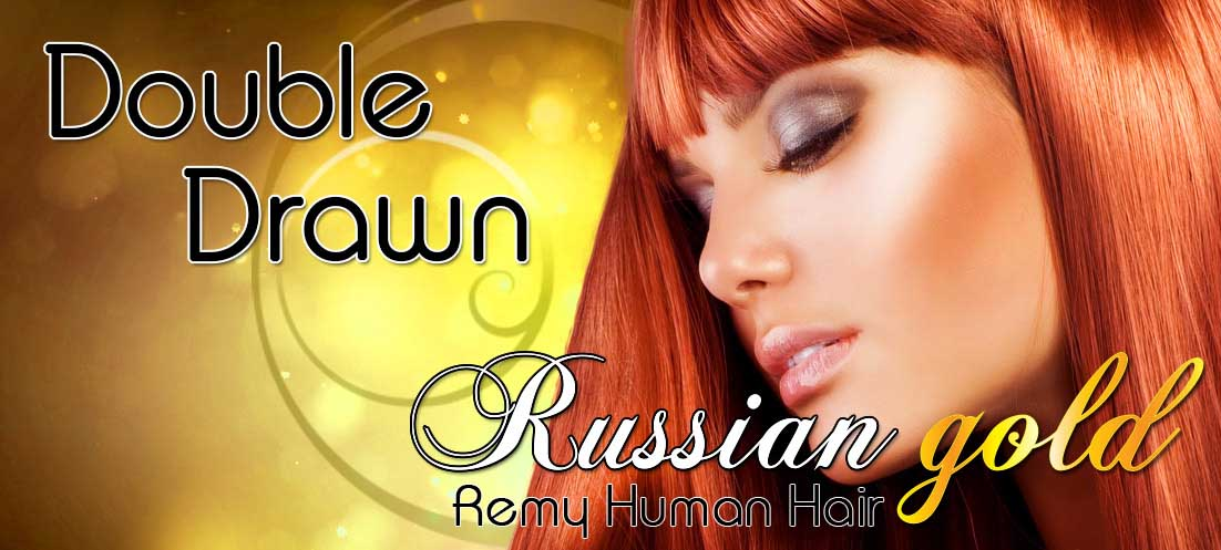 Human Hair Hair Extensions | Double Drawn Russian Gold Human Remy Hair Extensions